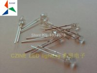 Wholesale mm Yellow LED In diodes Transparent water clear Round led diode for indicator short feet