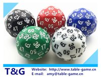 Wholesale T amp G dice pc High quality sided dice D60 dice polyhedral dice for board game number Dungeon and Dragons rpg d amp d