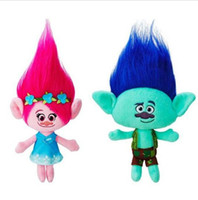 Wholesale 23cm cm Trolls Mega Town The Good Luck Trolls Ogres Poppy Branch Dream Works Doll Cartoon Movie Plush Toy Stuffed Dolls Anime Gift