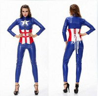 adult sailor moon costumes - Disfraz Mujer Sexy Blue Captain America Costume Halloween Sexy Adult Costumes Avengers Cosplay Sexy Sailor Moon Costume CE300