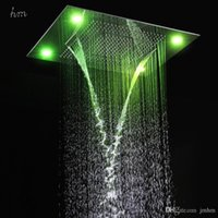 Wholesale Best Ceiling Mounted Rain Shower Heads Remote Control LED Rainfall Waterfall Shower Heads Multi Function LED Shower Heads