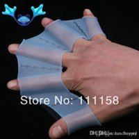 Wholesale 1000 DHL Free Ship Swimming Fins Hands Silicone Sailor Webbed Palm Flying Webbed Gloves Women Swim Fins Flipper pair xx