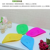 Wholesale Multifunctional petals with slip ring soap box kitchen sink cleaning sponge type Lishui soap box frame leaves g