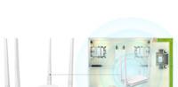 Original authentique maison wifi sans fil routeur à travers le mur Wang répéteur puissance ultra-stable à large bande à haut débit pour Tenda FH450