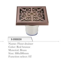 Wholesale Brass Floor Drainer mm Shower Floor Drain Grate Red Bronze X D9003H