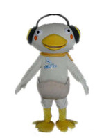 baby athletic wear - mascots costumes baby duck in egg mascot costume with a earphone for adult to wear