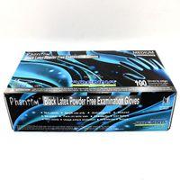 2 Guns latex powder free exam gloves - USA Dispatch Phantom Black Latex Powder Free Exam Gloves per Box MEDIUM Pack tattoo accessories supplies