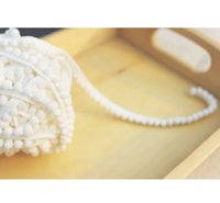 Wholesale white pompom ball trim cm ball diameter cm wide yards laciness Handmade materials accesory