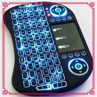 Wholesale Rii I8 Smart Fly Air Mouse Remote Backlight GHz Wireless Bluetooth Keyboard Remote Control Touchpad For Android Box MX3 M8S shipping