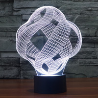 amazing optical - 3D Lamp Optical Illusion Visual Led Night Light Elstey Amazing Colors Changing Acrylic Light Guide Plate ABS Plastic Base