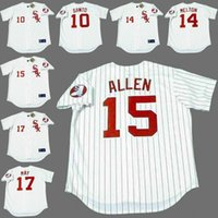 allen baseball - Men RON SANTO BILL MELTON RICHIE ALLEN CARLOS MAY Chicago White Sox s Majestic Cooperstown Baseball Jersey stitched