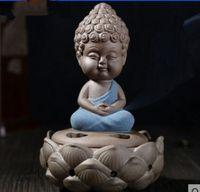 antique chinese china porcelain - Chinese Ru Kiln Porcelain Buddha lotus Chassis Incense burner