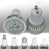 Wholesale GU10 E27 GU5 W W W Red Blue Green Yellow Color LED Spotlight Indoor lighting light Bulb Lamp V LED Downlight