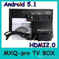 Wholesale MXQ Pro Android TV BOX Amlogic S905 Quad Core Original MXQPro M LAN GB GB GHz WiFi H KODI