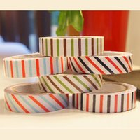 Wholesale 6 cotton cloth stripes masking tape DIY decorative tape kawaii stationery scrapbooking tools
