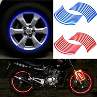 Wholesale 2015 New Strips Reflective Tire Stickers Motorcycle Car Wheel Rimtape Styling Sticker Hot Sale Auto Car Accessories