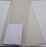 Wholesale New Design White African Net Lace High Quality lace fabric Mesh Material Nigeria Lace Fabrics For Nigerian Party Dress PGC136b