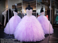 beautiful corset dresses - Beautiful Lavender Quinceanera Dresses Sweetheart Corset Crystals Pearls Ruffles Tulle Custom Made Debutantes Sweet Prom Party Gowns