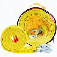 Wholesale 5 TONS CAR TOWING ROPE STRAP TOW CABLE BELT WITH METAL HOOK EMERGENCY HEAVY DUTY FT M
