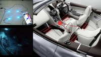 Wholesale new technology by smart phone for universal car multiple LED footwell light kit