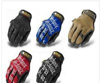 Wholesale 5 Colors Men MECHANIX WEAR Word Windproof Winter Hiking Military Tactical Warm Ski Snowboard Motorcycle Cycling Long Full Finger SportGloves