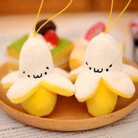banana photos - Super soft Eva sister small banana phone backpacks pendant peeling banana jun plush toy key pendant