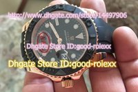 auto customizing - Customized Top Quality Automatic Watches For Men Ceramic Bezel Yacht Master Black Dial Watch Men s Rose Gold Mens AAA Watches