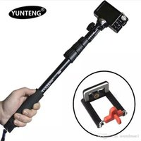 Wholesale yunteng188 Selfie Stick Aluminium Monopod Foldable Secure Mount for iPhone Android phones and GoPro mount only