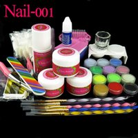 acrylic glass glue - Clou Beaute Color Acrylic Powder False Nail Liquid Glue Brush Pen Glass Dappen Dish Stickers Set