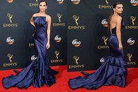 annual emmy awards - 2016 Emily Ratajkowski th Annual Emmy Awards evening dresses celebrity red carpet dress mermaid tiered skirts sweep train