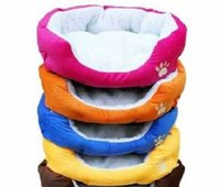 Wholesale 2014 HOT Colorful Pet Cat and Dog bed Pink Orange Blue Yellow Brown Gray Green SIZE M L