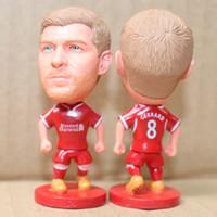 Wholesale Miniverse Soccer Dolls Club Liv Steven Gerrard Figure Resin CM Height Red Kit