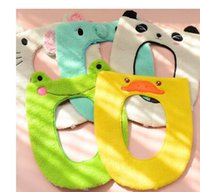 Wholesale New cartoon toilet sets covers comfortable home cushion sticky toilet mat