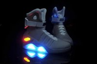 air free borders - 2016 New Air Men s Limited Edition Mag Shoes Authentic High Quality Basketball shoes LED shoes Size