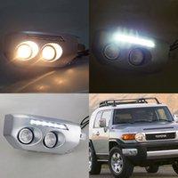 Wholesale 2pcs Car LED DRL daytime running light for Toyota Cruiser fj FOG light DRL fog lamp LED pair