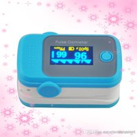 Wholesale PO10004A52 with Pulse Sound Audio Alarm OLED Fingertip oxymeter spo2 PR monitor Blood Oxygen Pulse Oximeter Freeshipping blue
