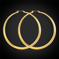 basketball wives earrings for sale - Big Earrings Hot Sale K Real Gold Plated Simple High Quality Basketball Wives Fashion Jewelry For Women Hoop Earring E6391