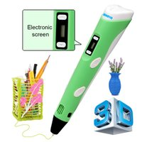 Wholesale 3D Stereoscopic Printing Pen for Drawing and Doodling with ABS Filament Material sample pack Power Adapter