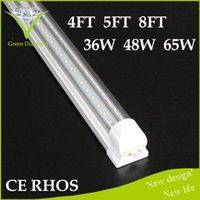 Wholesale Hot sale led lights V Shape ft Cooler Door Led Tubes T8 Integrated Led Tubes Double Sides SMD2835 Led Fluorescent Lights Coolers led lights