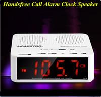 alarm clock for sale - Hot sale LED alarm clock speaker bluetooth hands free calling speakers multifunctional LED alarm clock bluetooth speakers
