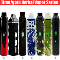 Chrome dry herb vaporizer - Hotting Dry Herbal Vaporizer series kits Titan I II starter kit dry herb wax vapor e Cigarettes DHL free
