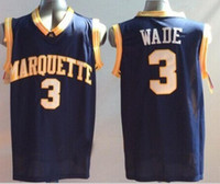 Wholesale Marquette Golden Eagles jersey Dwyane Wade college Jersey size extra small xS S xl top quality