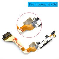 Wholesale Original New Dock connector For iphone GSM charging charger port flex cable For iPhone A1332 Black