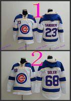 baseball style hoodies - Chicago Cubs Ryne Sandberg Baseball Hoodie Hooded Sweatshirt Jackets New Style Outdoor Uniform size M XL