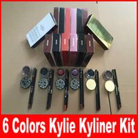 Wholesale Kylie Jenner Kyliner BRAND NEW Kylie Cosmetics Byr In Black Brown Chameleon bronze with Eyeliner Gel pot Brush Birthday Limited Package