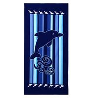 adult baby chair - Beach Towel Bath Towel Beach Chair Cover Blue Dolphins Printed Boys Girls Children Adults Non Fading