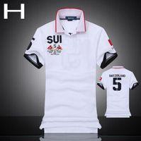 american flag t shirt - 2016 Men shirts High quality cotton T shirt polo shirts National flag Polos