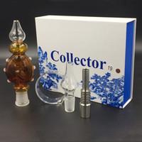Concentré de plate-forme pétrolière Prix-Ensemble de collection de nectar coloré Ensemble de concentré de miel 14mm 19mm avec des clous en acier inoxydable