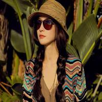 Gros-Nouvelle Collection Eté 2016 Femmes Chapeaux Panama Paille arc-en-Dames Chapeaux Plage Canotier Chapeau Filles Cap Chapeau de soleil