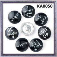 bad beads - Mixed Fashion mm Snap Buttons DIY snap button noosa chunks leather bracelet I lover you forver bad KA0050